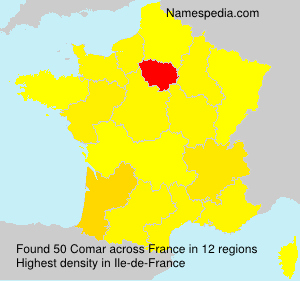 Surname Comar in France