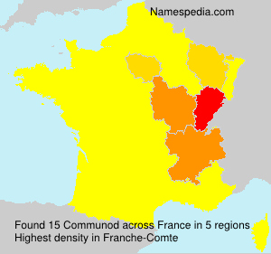 Surname Communod in France