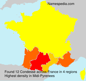 Surname Condesse in France