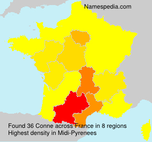 Surname Conne in France
