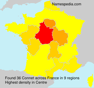 Surname Connet in France