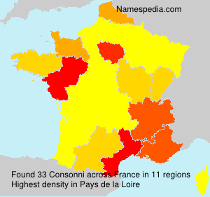 Surname Consonni in France