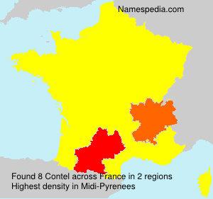 Surname Contel in France