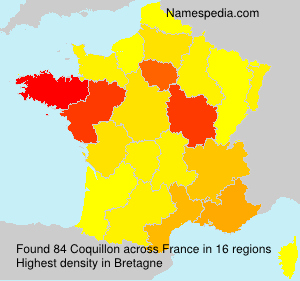 Surname Coquillon in France