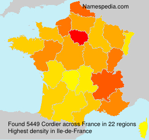 Surname Cordier in France