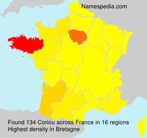 Surname Coriou in France