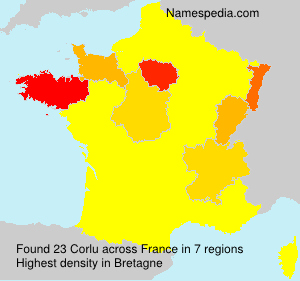 Surname Corlu in France