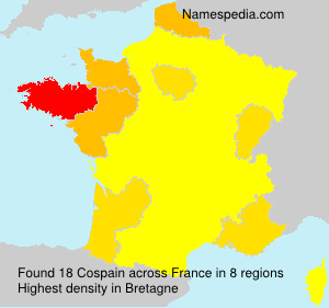 Surname Cospain in France