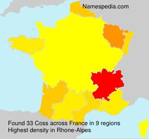 Surname Coss in France