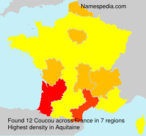 Surname Coucou in France