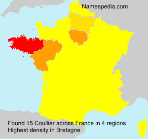 Surname Coullier in France