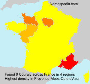 Surname Couraly in France