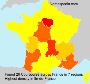 Surname Courboules in France