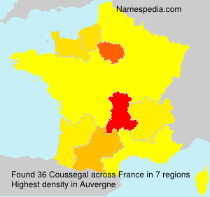 Surname Coussegal in France