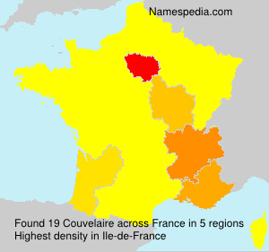 Surname Couvelaire in France