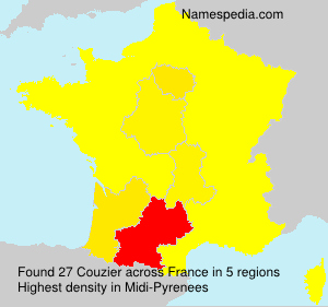 Surname Couzier in France