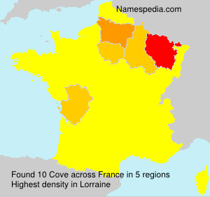 Surname Cove in France