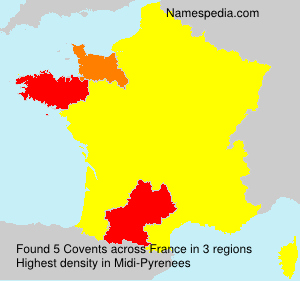 Surname Covents in France