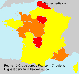 Surname Crauc in France
