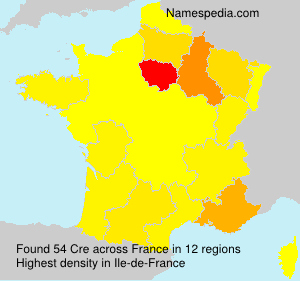 Surname Cre in France