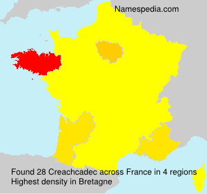 Surname Creachcadec in France