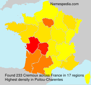 Surname Cremoux in France