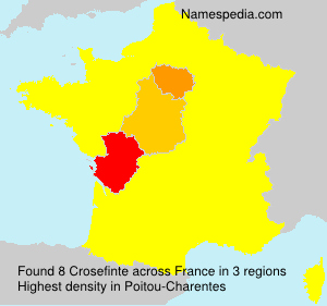 Surname Crosefinte in France