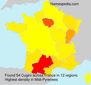 Surname Cugini in France