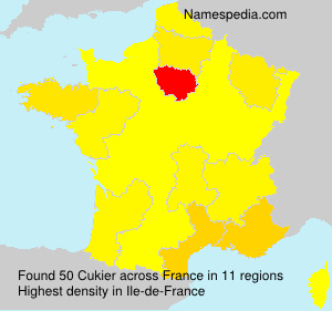 Surname Cukier in France