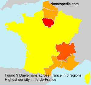 Surname Daelemans in France