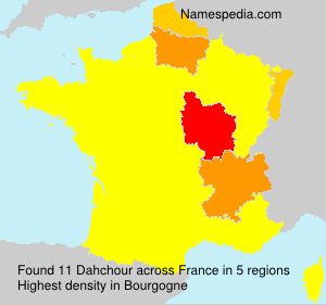 Surname Dahchour in France