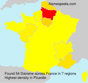 Surname Dairaine in France