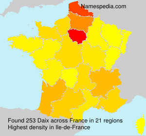 Surname Daix in France