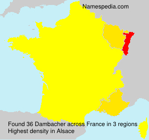 Surname Dambacher in France