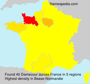Surname Damecour in France