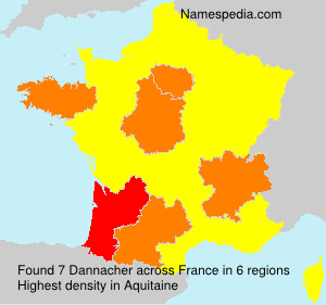 Surname Dannacher in France