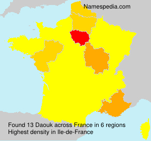 Surname Daouk in France