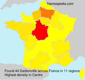Surname Darbonville in France