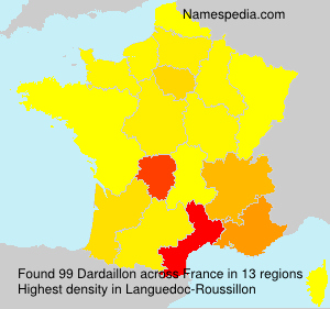 Surname Dardaillon in France