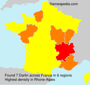 Surname Darlin in France
