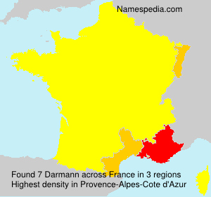 Surname Darmann in France