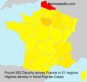 Surname Dauchy in France