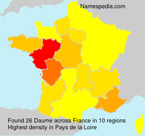 Surname Daume in France