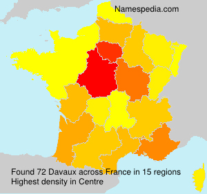 Surname Davaux in France