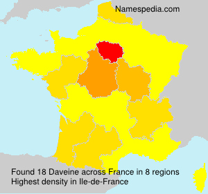 Surname Daveine in France