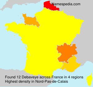 Surname Debaveye in France