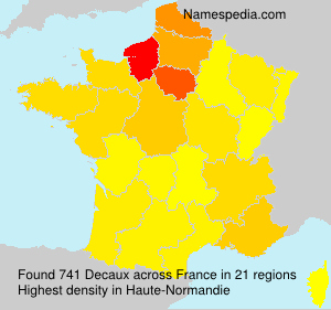 Surname Decaux in France