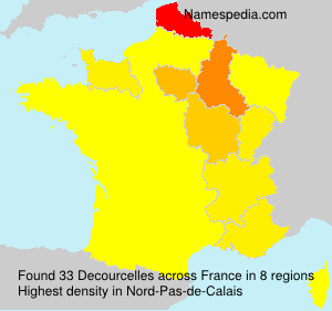 Surname Decourcelles in France