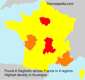Surname Deghetto in France