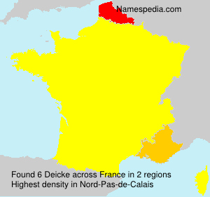 Surname Deicke in France